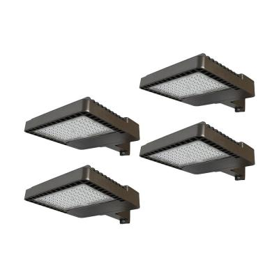 1200-Watt Equivalent Integrated LED Bronze Dusk to Dawn Area and Flood Light with 18,000 Lumens Outdoor Light (4-Pack)