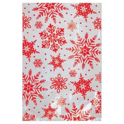 6 in. x 4 in. x Christmas Snowflake Cello Treat Bag (25-Count 7-Pack)