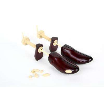 Unisex Size 5-8 Wooden 2-Way Shoe Stretchers (2-Pack)