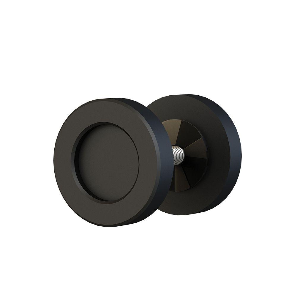 2 in. Black 2-Sided Dual Mount Cabinet Knob for Wood or