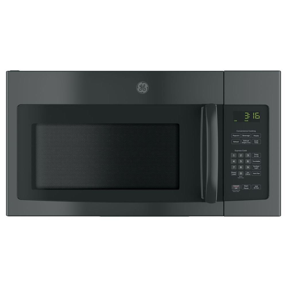 GE 30 in. 1.6 cu. Ft. Over the Range Microwave in Black