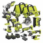 Ryobi ONE+ 18V Cordless 12-Tool Combo Kit with 3 Batteries and Charger