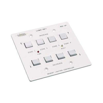 Luma-Net Remote Memory Control Panel with 4 Selectable Control Zones, White
