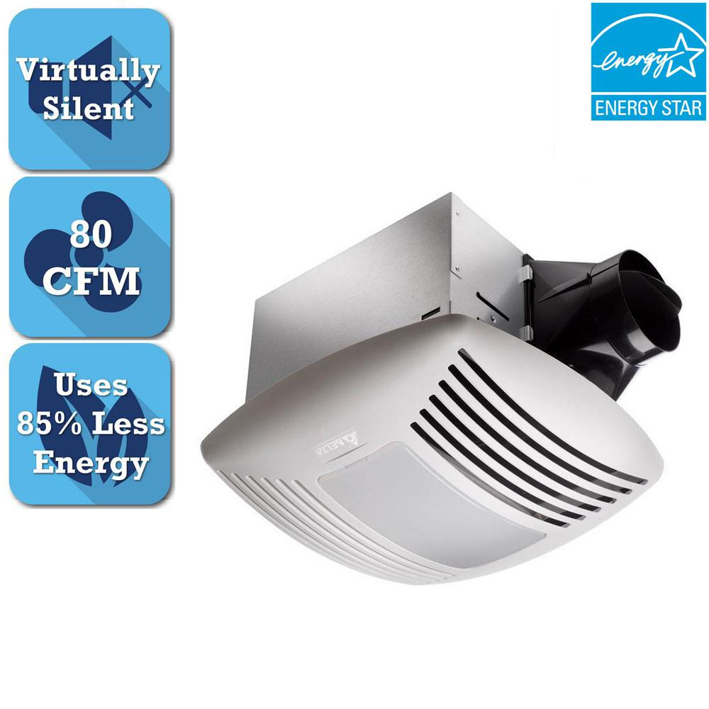 Delta Breez Signature Series 80 CFM Ceiling Bathroom Exhaust Fan with Light