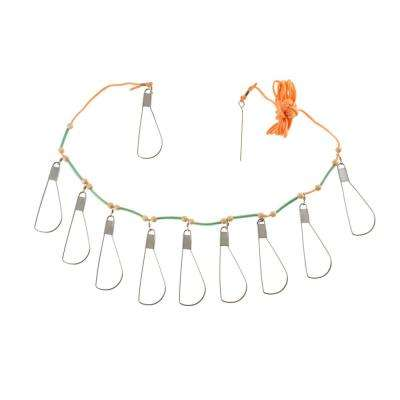 Fish Stringer with 10-Stainless Steel Hooks