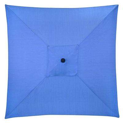 6 ft. Square Aluminum Patio Umbrella in Periwinkle