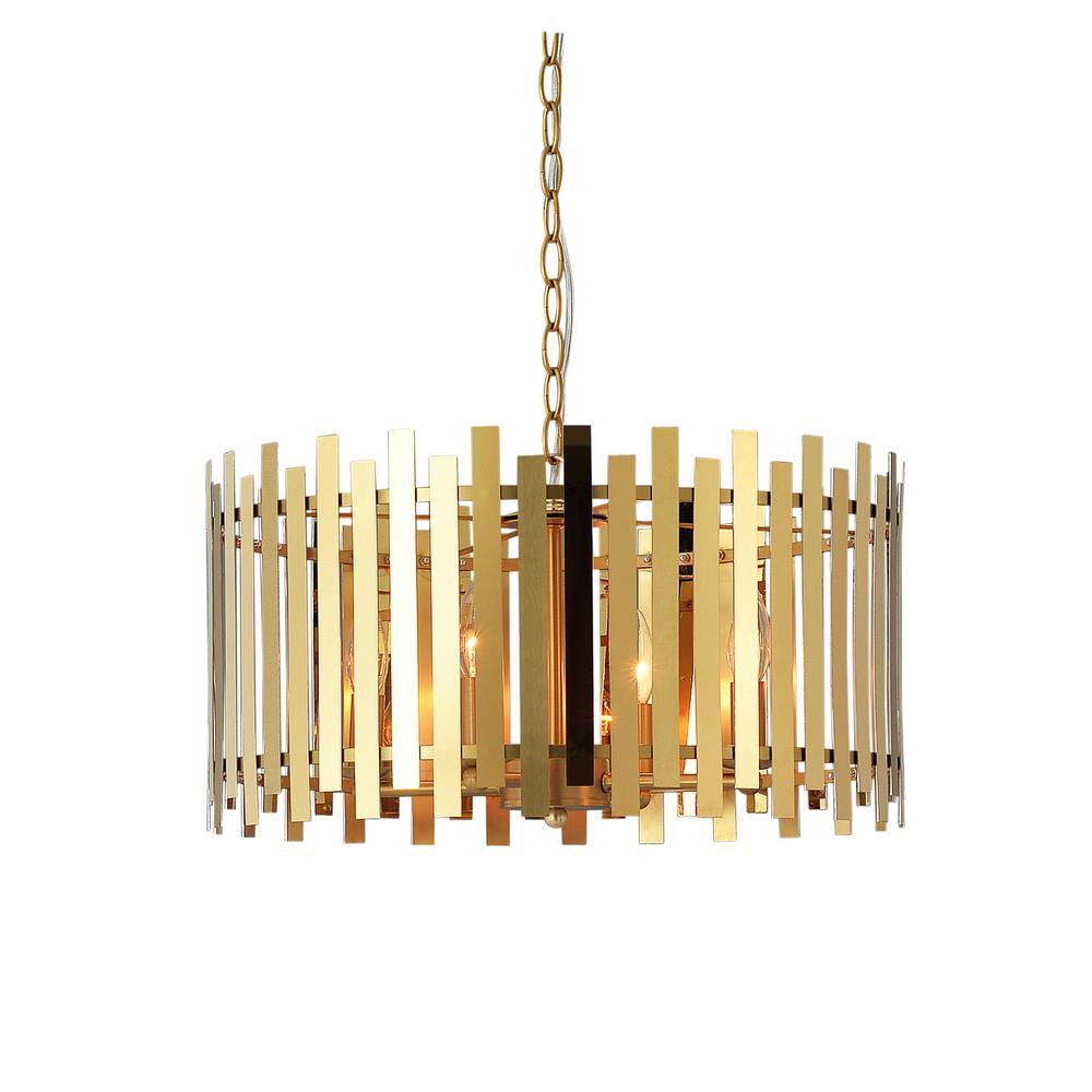 Picket 4-Light Gold Pendant