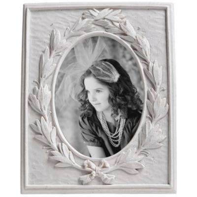Enchanting 7.28 in. x 5.91 in Ivory White Picture Frame