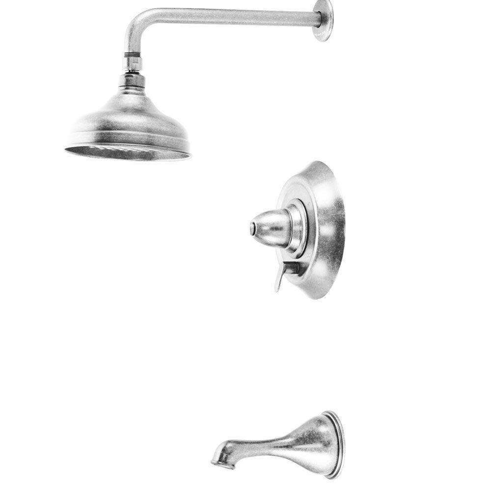 Belle Foret Pressure Balance Tub and Shower Faucet Less Handles in Chrome-DISCONTINUED