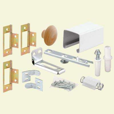 24 in. Bi-Fold Closet Door Track Kit