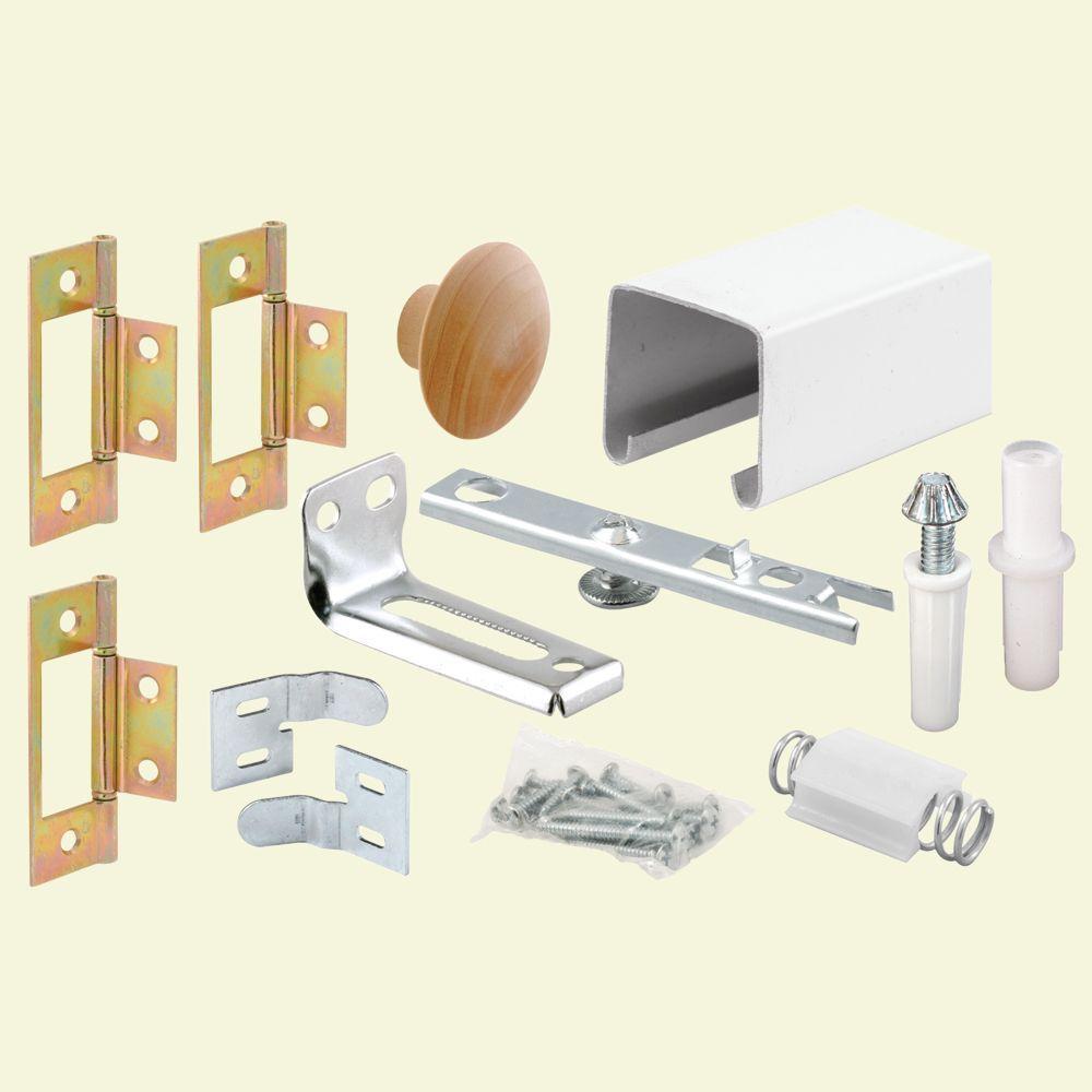 Prime-Line 24 in. Bi-Fold Closet Door Track Kit-164684 - The Home Depot