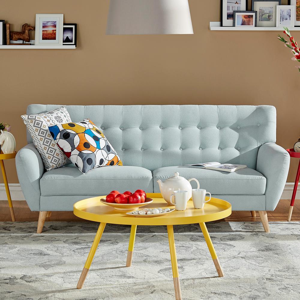 Fletcher Soft Blue Linen Sofa