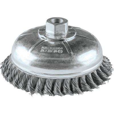 6 in. x 5/8 in.-11 Knot Wire Cup Brush