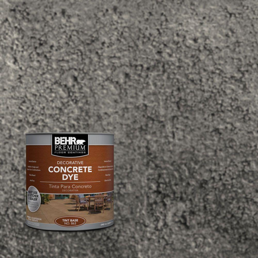 BEHR Premium 1 qt. #CD-828 Arctic Black Concrete Dye