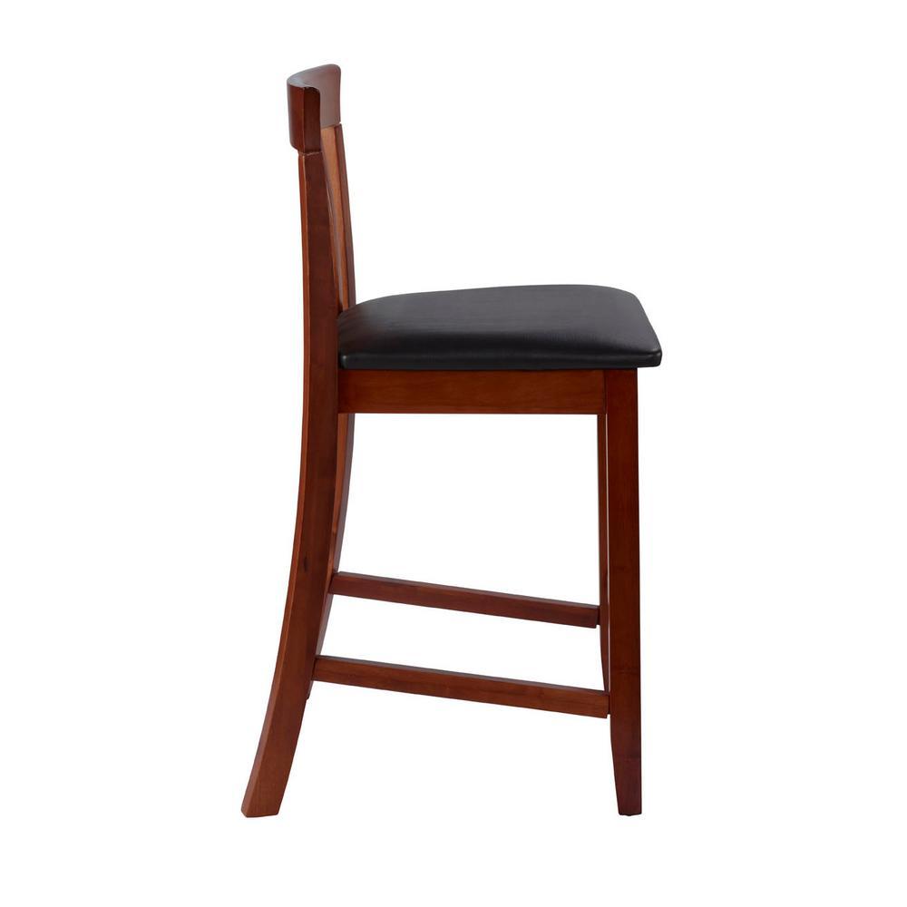 Cool Linon Home Decor Triena Craftsman Counter Stool 01857Dkchy Frankydiablos Diy Chair Ideas Frankydiabloscom