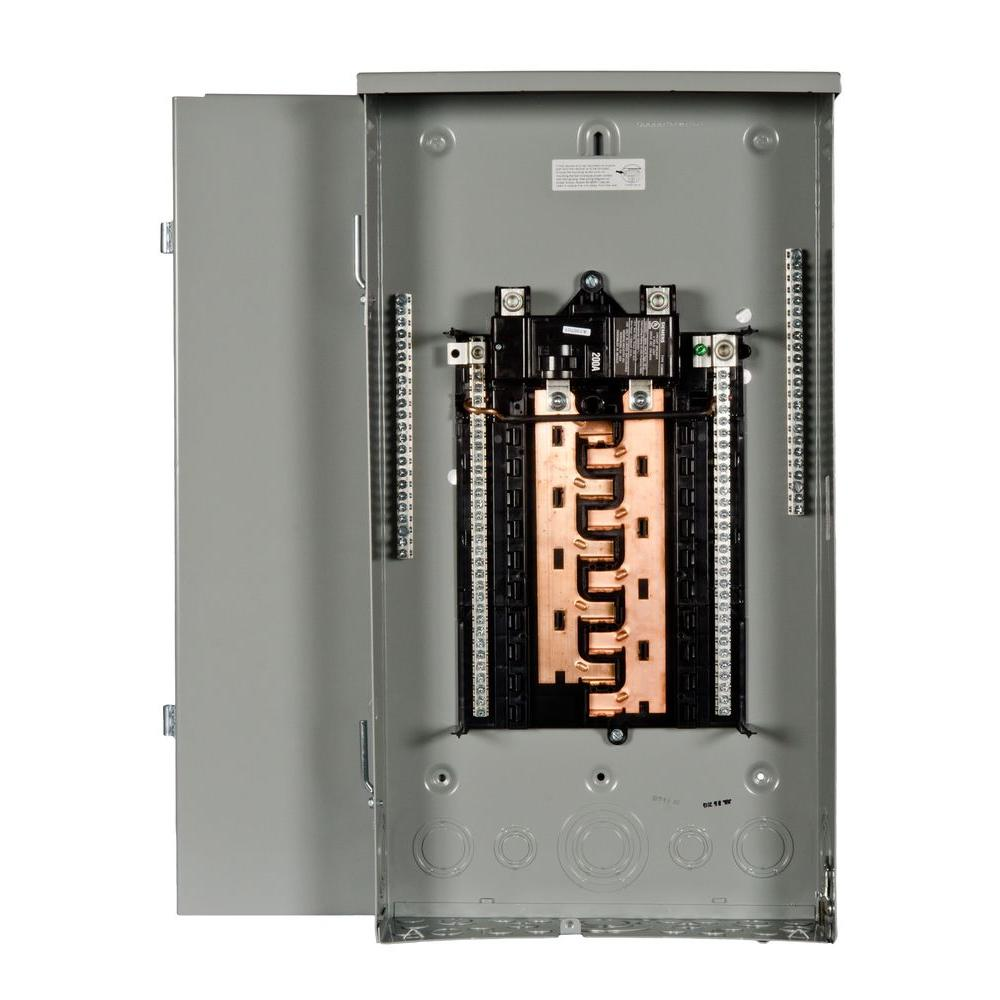 Siemens PL Series 200 Amp 20-Space 40-Circuit Main Breaker Outdoor Load Center