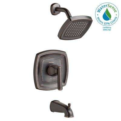 Edgemere 1.8 GPM 1-Handle Tub and Shower Faucet Trim Kit in Legacy Bronze (Valve Not Included)