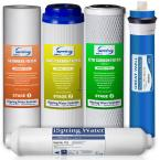 Universal 5-Stage Reverse Osmosis Complete Replacement Water Filter Cartridge Set