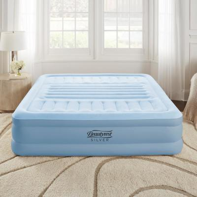 Beautyrest Silver Queen Lumbar Supreme Air Mattress with Adjustable Lumbar Support and Built-in Pump