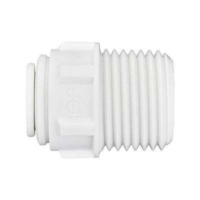 3/8 in. O.D. x 1/2 in. NPTF Push-to-Connect Male Connector (10-Pack)