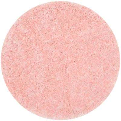 Arctic Shag Pink 5 ft. x 5 ft. Round Area Rug