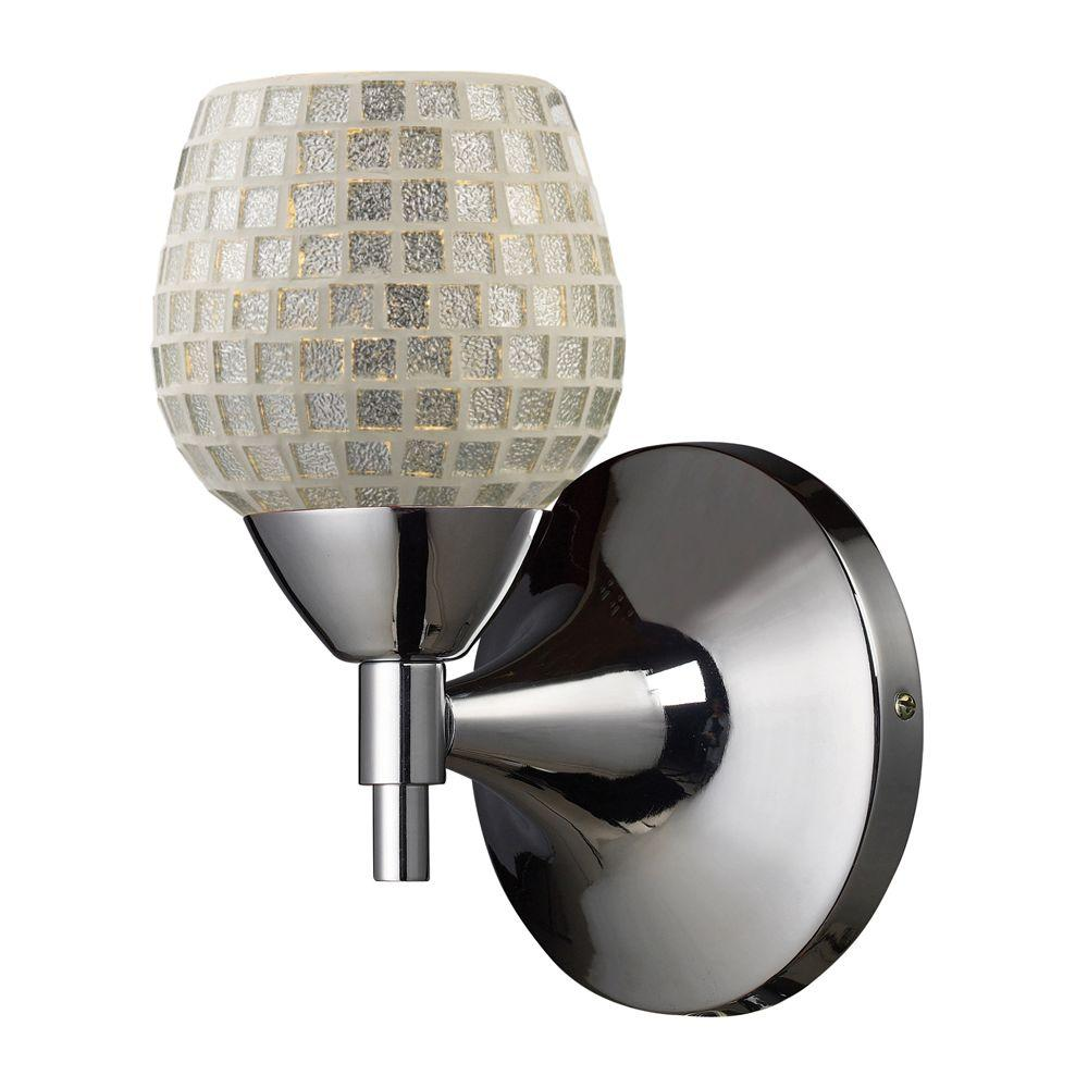 Titan Lighting Celina 1-Light Polished Chrome Wall Mount Sconce