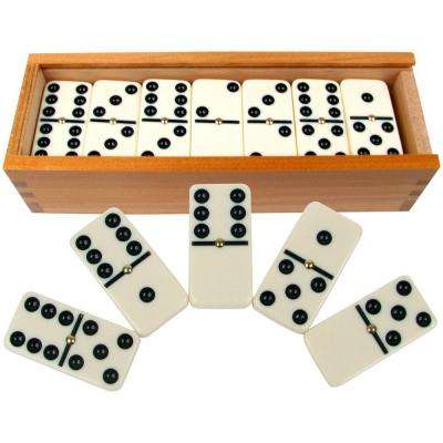 28 Double 6 Dominoes with Wood Case