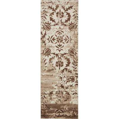Rushmore Jefferson Chocolate Brown 3' 0 x 9' 10 Runner Rug