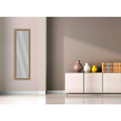 51.875 in. x 15.875 in. Medium Champagne Framed Mirror