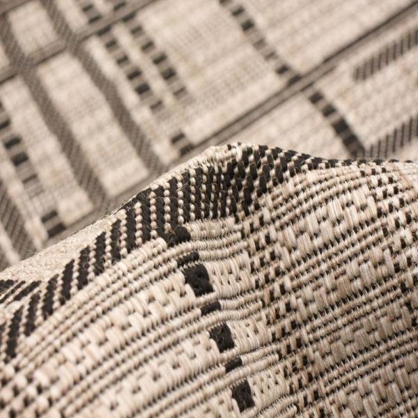 Ecarpet Gallery Machine Woven Sisal Burburry Silver Black 7 Ft 1 X 10 Ft 2 In Abstract Area Rug 315430 The Home Depot