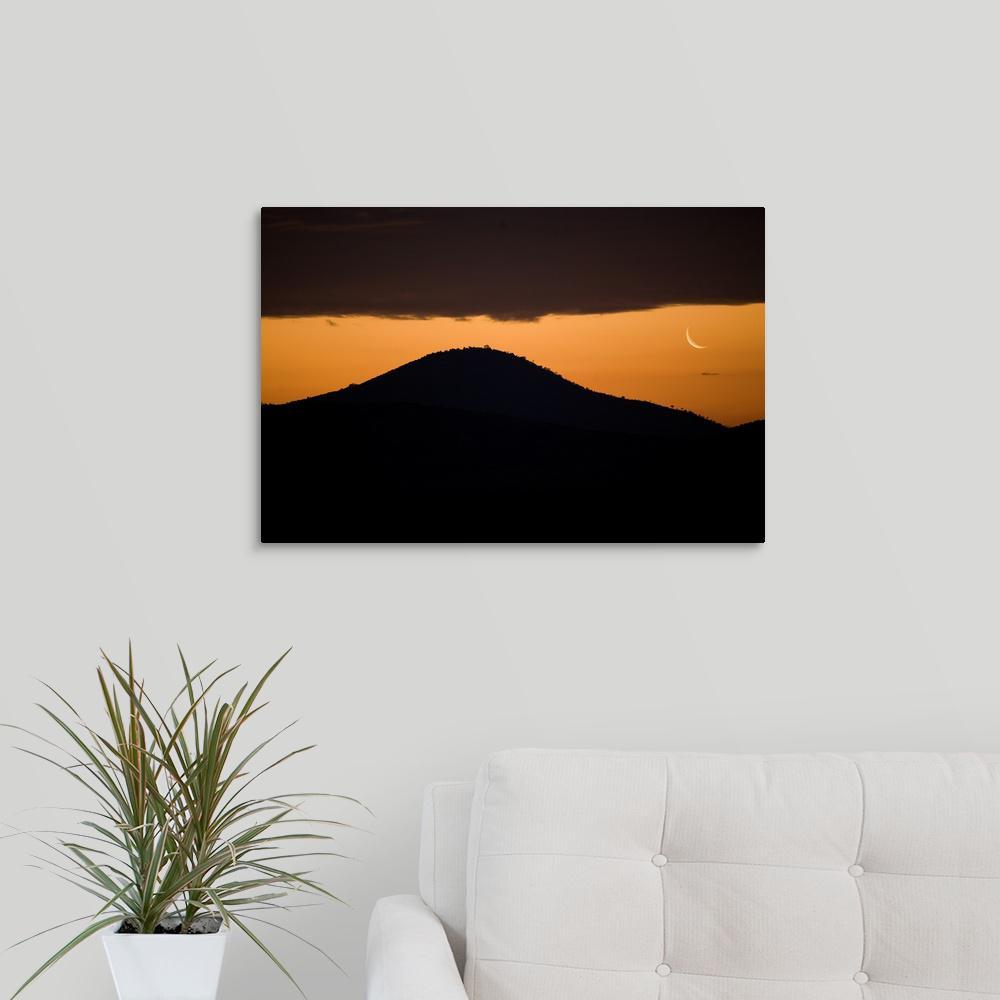 GreatBigCanvas 24 in. x 16 in. ''African Moonrise'' by Scott Stulberg