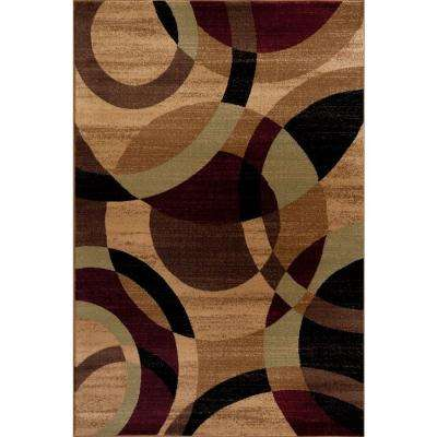 Contemporary Modern Circles Abstract Multi 8 ft. x 10 ft. Indoor Area Rug