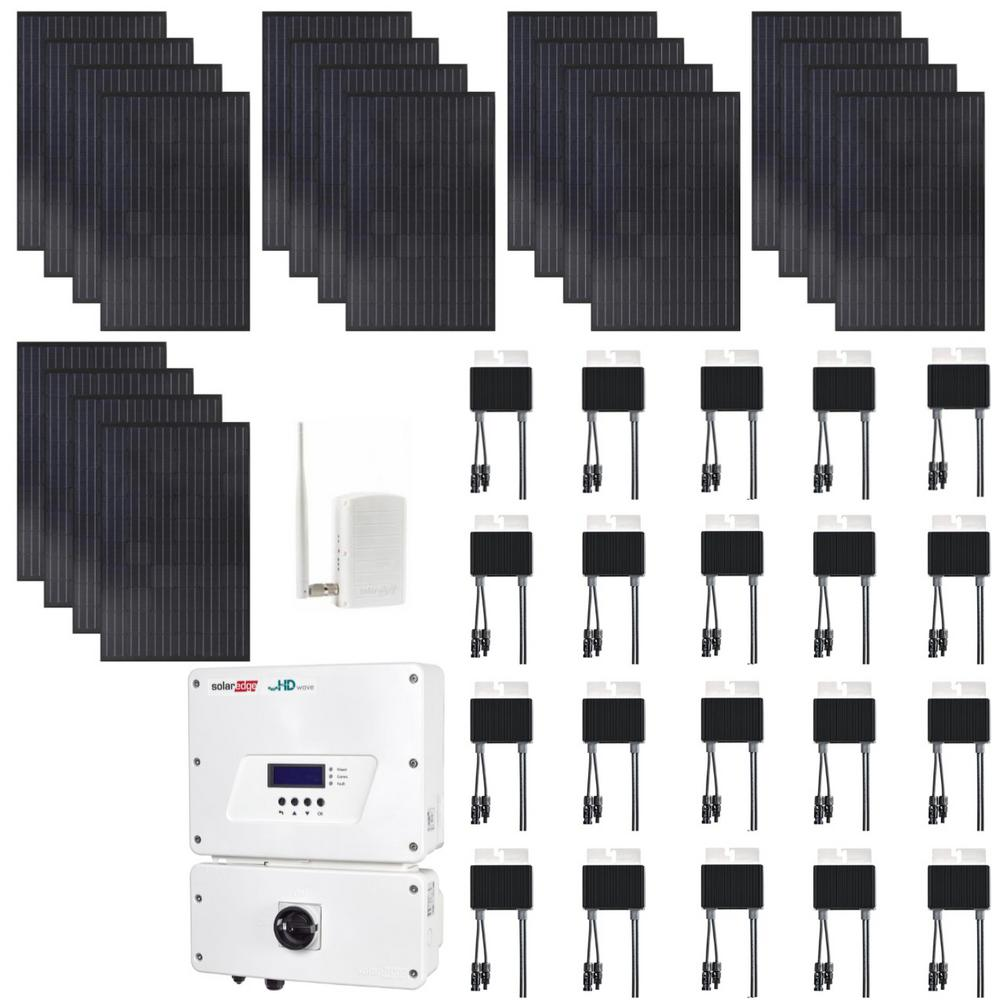 6,000-Watt Expandable Monocrystalline PV Grid-Tied Solar Power Kit