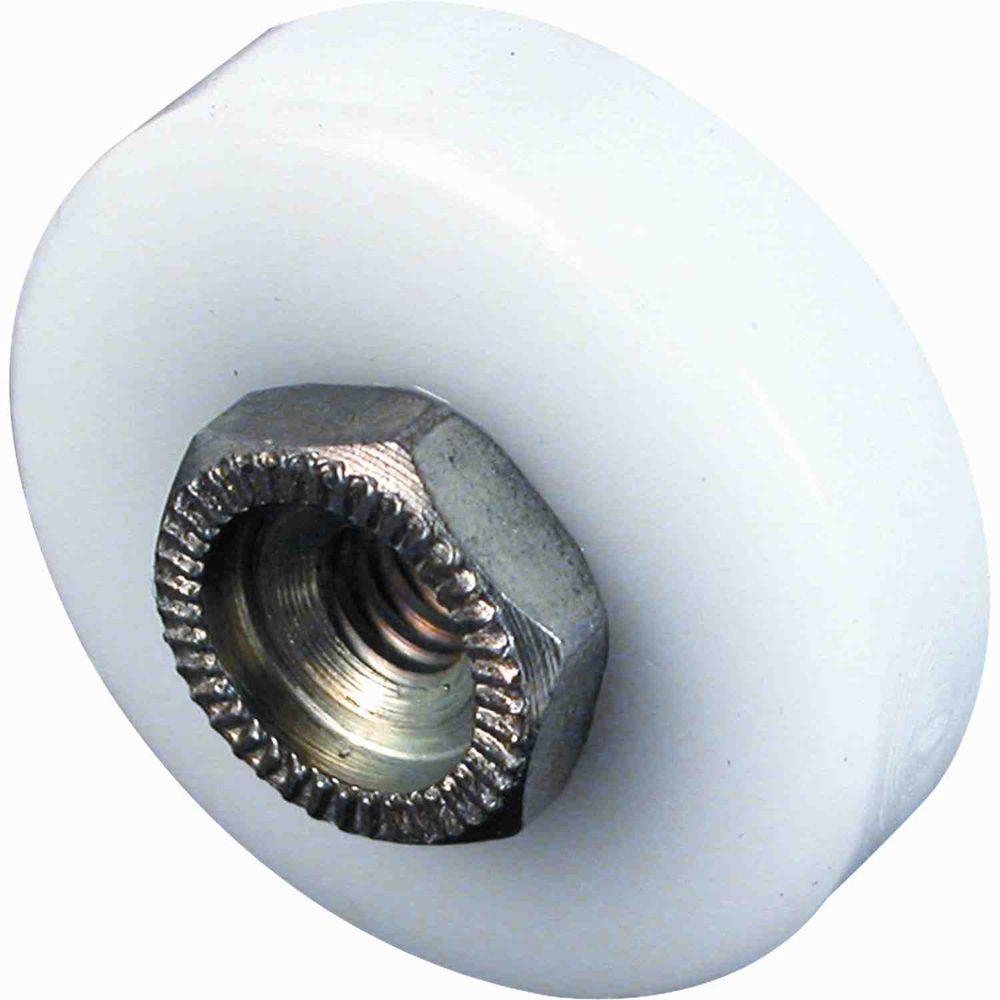 3/4 in. Nylon Flat-Edge Sliding Shower Door Rollers (4-Pack)