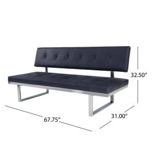 Superb Noble House Bezout Contemporary Navy Blue Microfiber Gmtry Best Dining Table And Chair Ideas Images Gmtryco