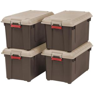 87 Qt Weather It All Storage Bin In Brown Pack
