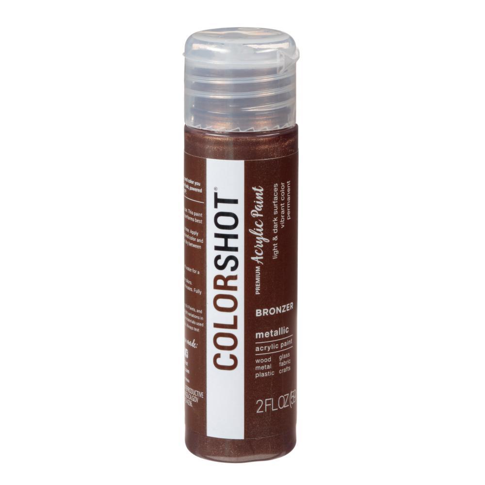 COLORSHOT 2 oz. Metallic Bronzer Brown Craft Paint