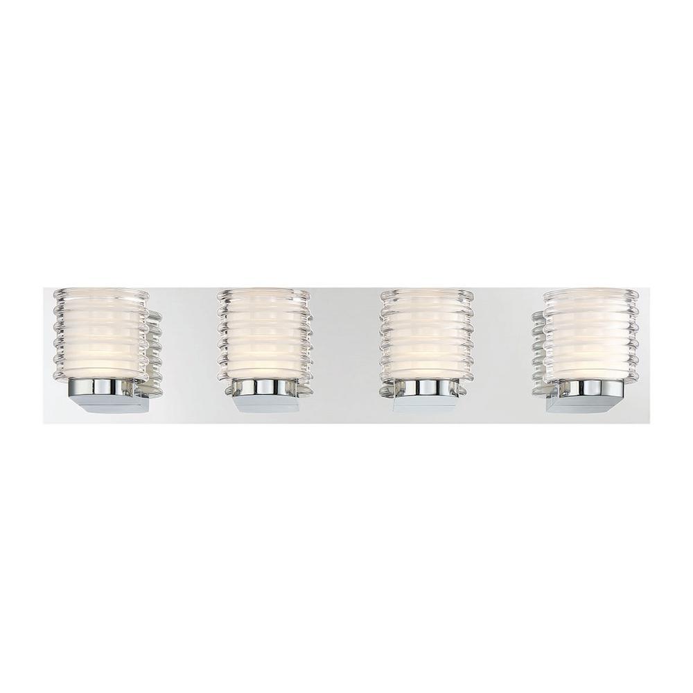 Ancona 10-Watt Satin Nickel Integrated LED Bath Light