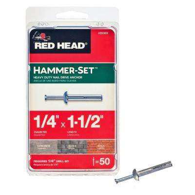 1/4 in. x 1-1/2 in. Hammer-Set Nail Drive Concrete Anchors (50-Pack)