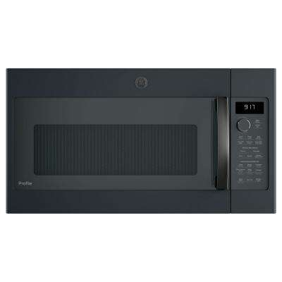 Profile 1.7 cu. ft. Over the Range Convection Microwave in Black Slate, Fingerprint Resistant