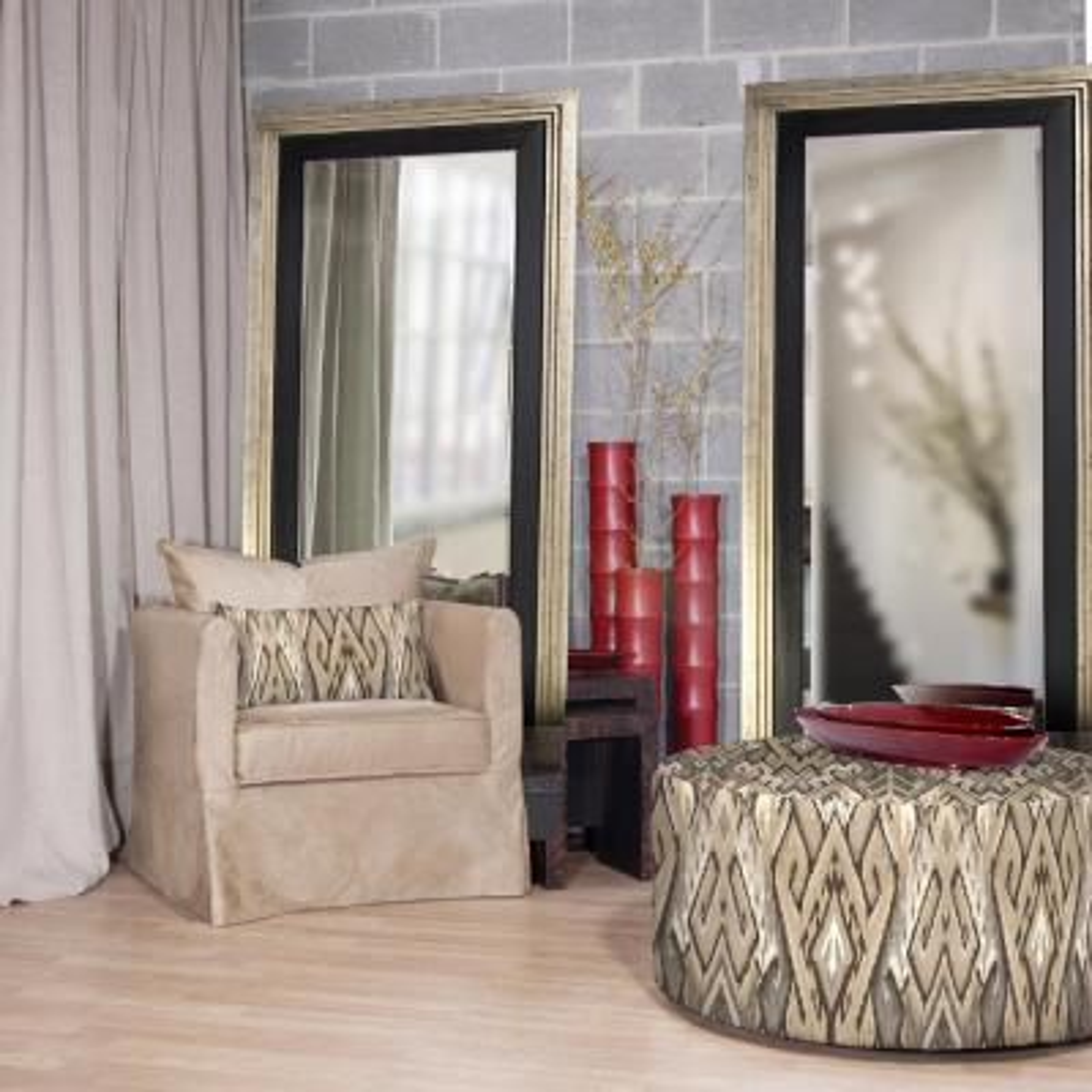 Dawson Silver and Black Leaner Mirror