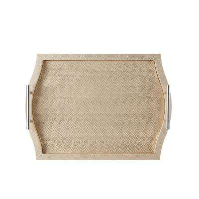 Cream Decorative Serving Tray