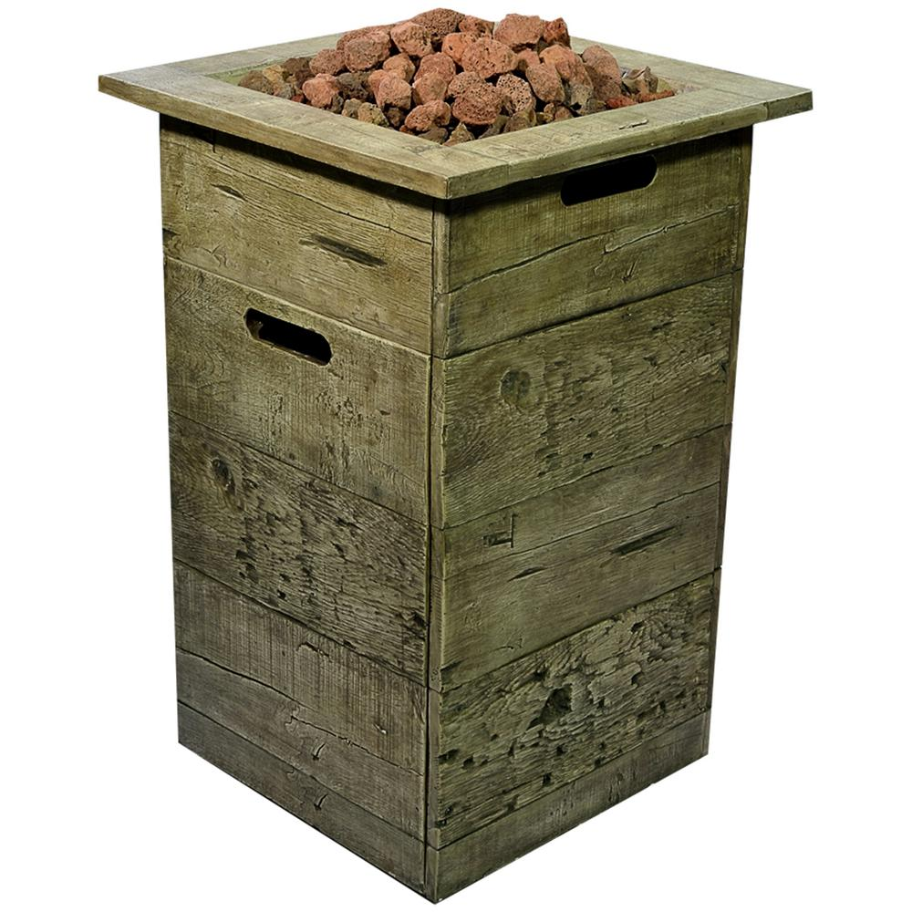 44 In Fossill Brown Round Fire Pit Kit Fsfpb The Home Depot