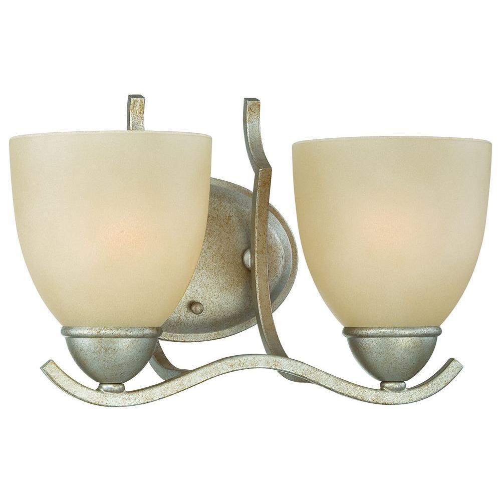 Thomas Lighting Triton 2-Light Moonlight Silver Bath Light