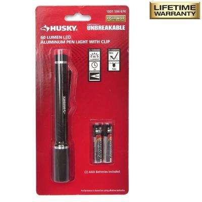 80-Lumen Virtually Unbreakable Aluminum Pen Light with Clip