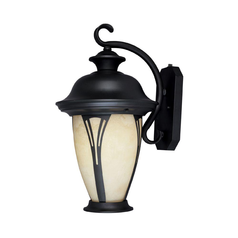 Designers Fountain Westchester 1 Light Bronze Outdoor Fluorescent Wall  Lantern ES30531 AM BZ   The Home Depot