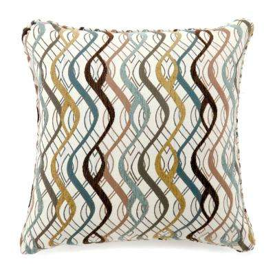 Sine 18 in. Contemporary Throw Pillow in Multicolor (Pack of 2)