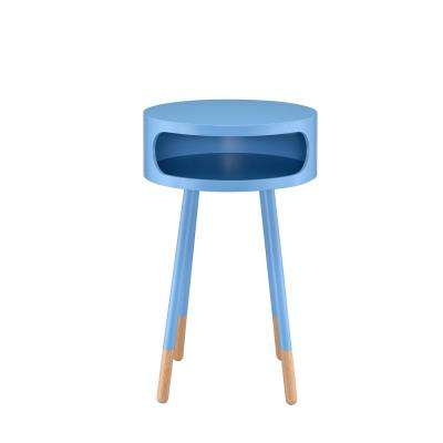 Sonria Light Blue and Natural End Table