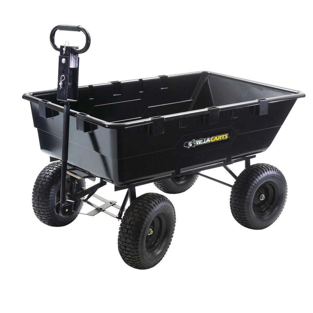 Gorilla Carts 10 cu. ft. Plastic Dump Cart-DISCONTINUED