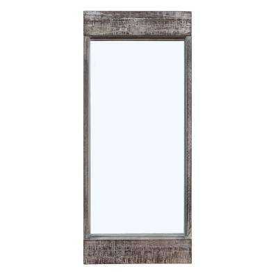 Magnolia Ranch 28 x 12 in. Distressed Wood Framed Rectangular Wall Mirror